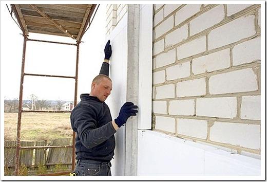 Как утеплить дом снаружи пенопластом своими руками?
