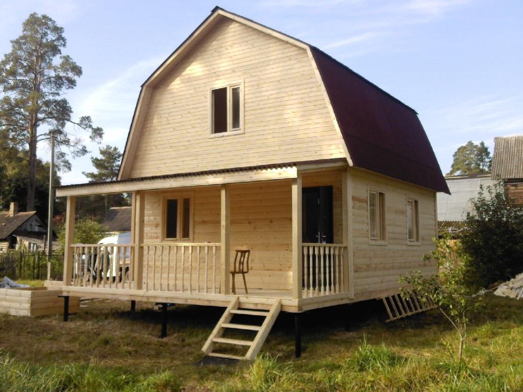 Строительство дачного домика из бруса