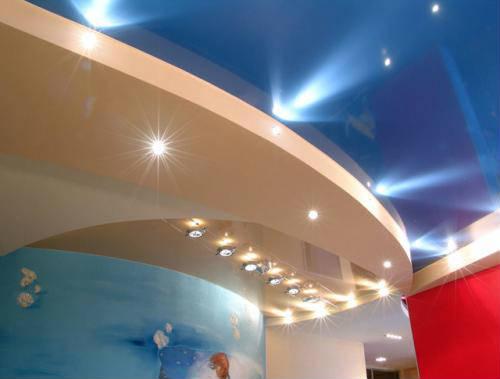 Характеристика натяжного и гипсокартонного потолков