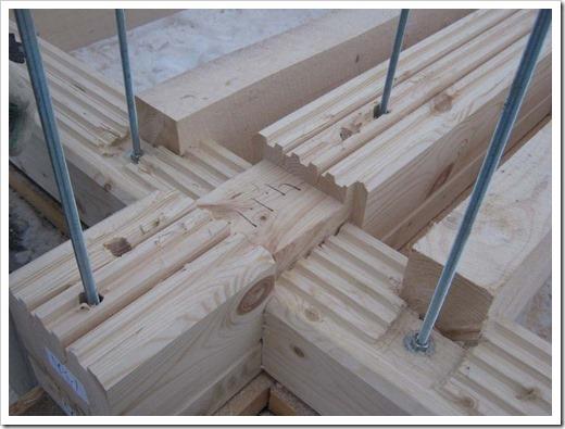 Нагели при строительстве домов из бруса