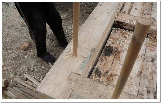 Деревянные нагели при строительстве домов из бруса