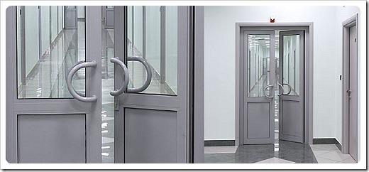 Алюминиевые двери для офисных зданий