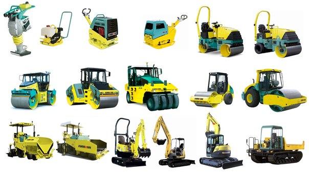 Основные виды строительных машин