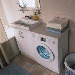 установка стиральной машинки в ванной