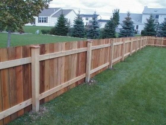 недорогой забор для дачи из дерева