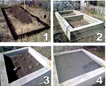 фундамента для бани из пеноблоков