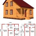 Планировка дома из бруса 6х8