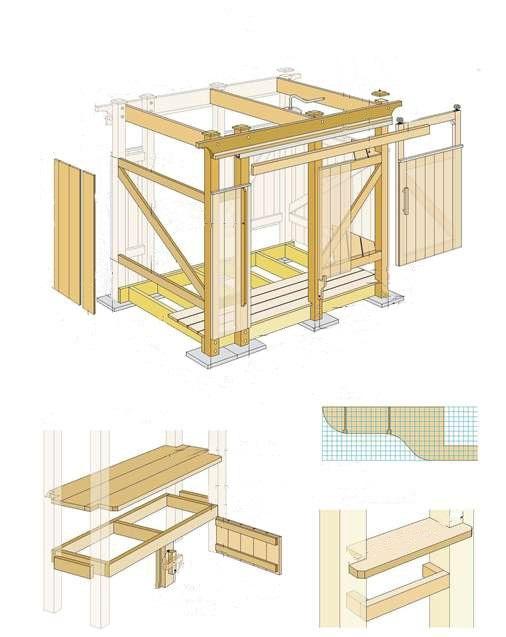 Как построить деревянный душ на даче своими руками фото