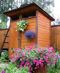 летний душ для дачи из дерева