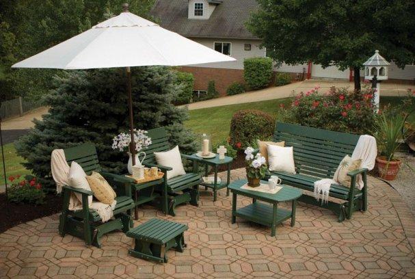 Пластиковая мебель для сада