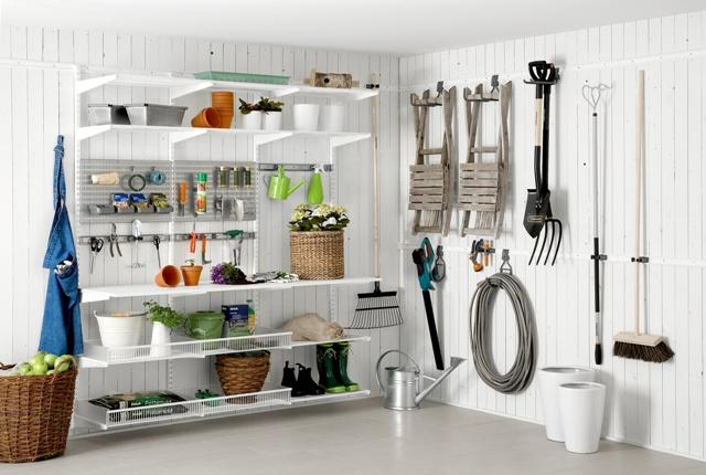 elfa Utility - система хранения садового инвентаря