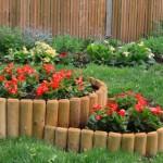 садовый бордюр из дерева