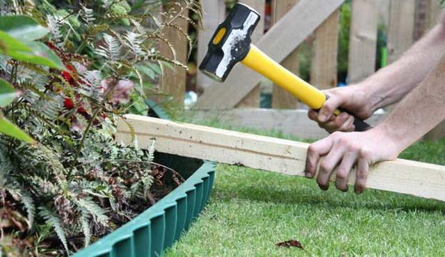 садовый бордюр из пластика