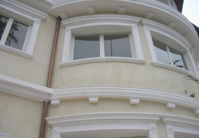 Декор фасадов из пенопласта и его достоинства