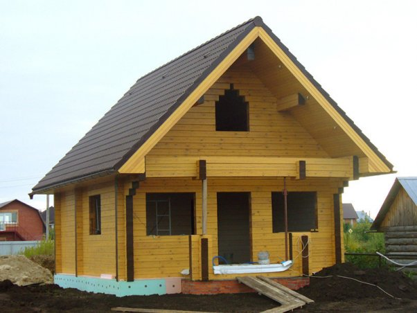 Строительство дома или бани из бруса