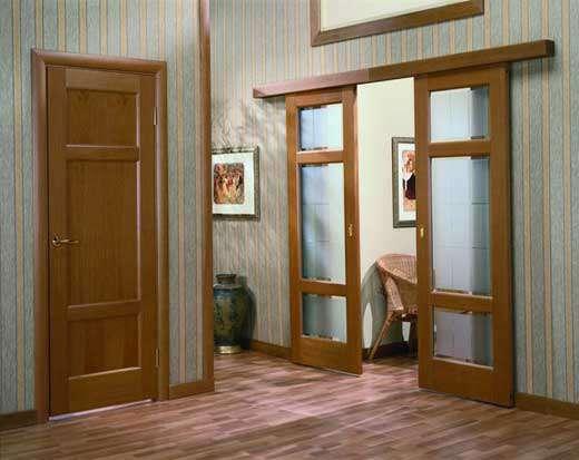 раздвижные деревянные межкомнатные двери