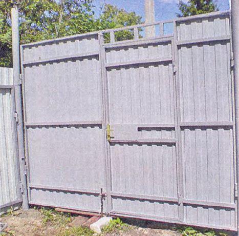 Вариант изготовления металлической калитки на даче