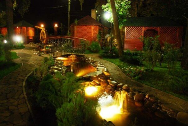 освещение двора светодиодными светильниками