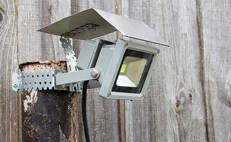 монтаж светодиодных прожекторов