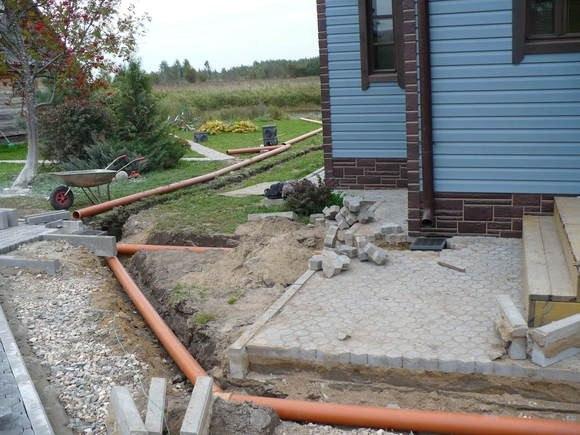 монтаж ливневой канализации на даче