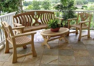 дачная мебель из дерева