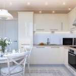 Дизайн современной белой кухни