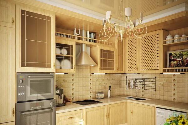 Компактная кухня 9 кв.м. в стиле кантри