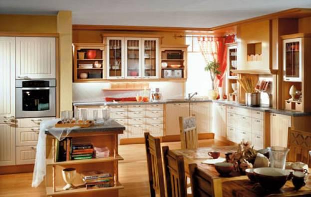 Мебель и техника в интерьере кухни 9 кв м