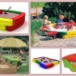 Современные пластиковые детские песочницы