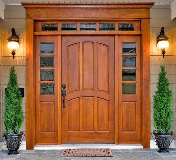 деревяные входные двери для дачи