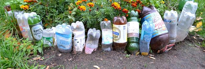 Для сада - Поделки из пластиковых бутылок 1