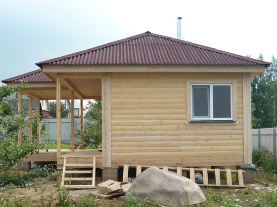 Крыша для бани: какой она должна быть