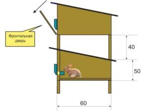 Как построить крольчатник на даче своими руками
