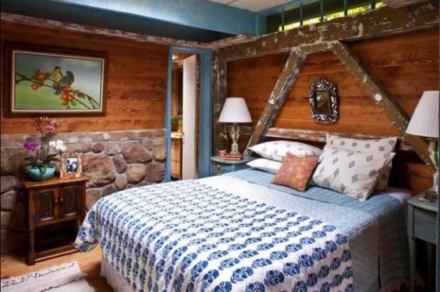 оформление спальни на даче в стиле кантри