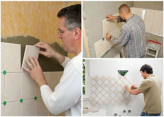 Откуда начинать класть плитку в ванной