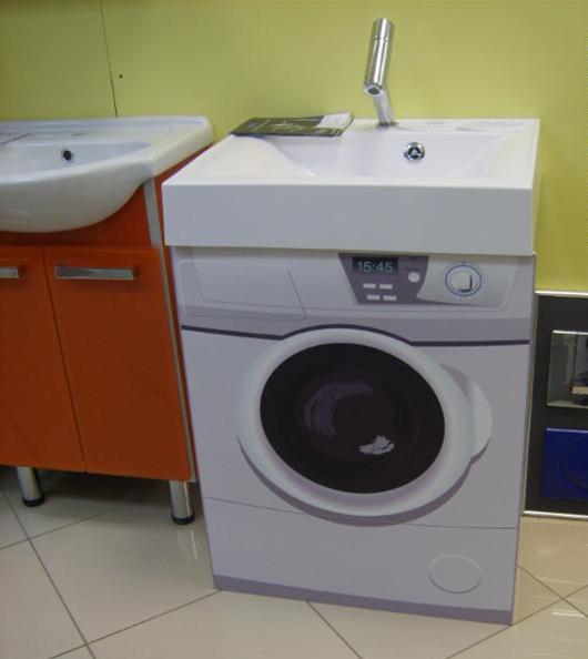 Особенности умывальника, предназначенного для установки над стиральной машиной