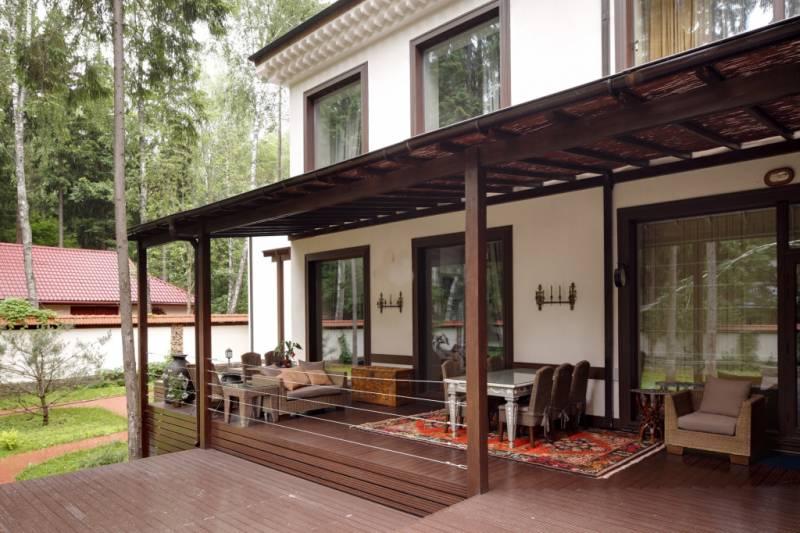 Дизайн открытой веранды для дома