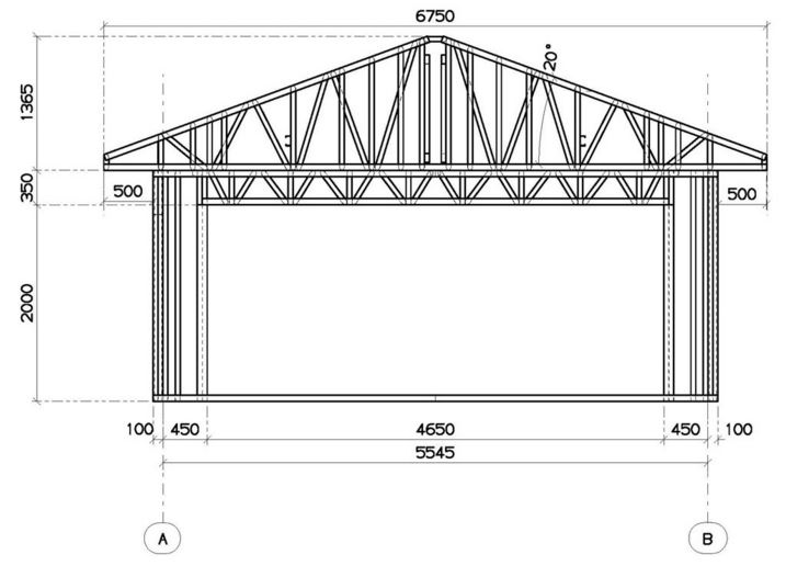Проектирование гаража из пеноблоков