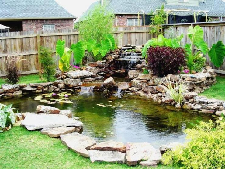 Как оформить большой водоем в саду