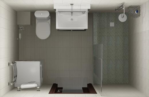 расположение ванной комнате