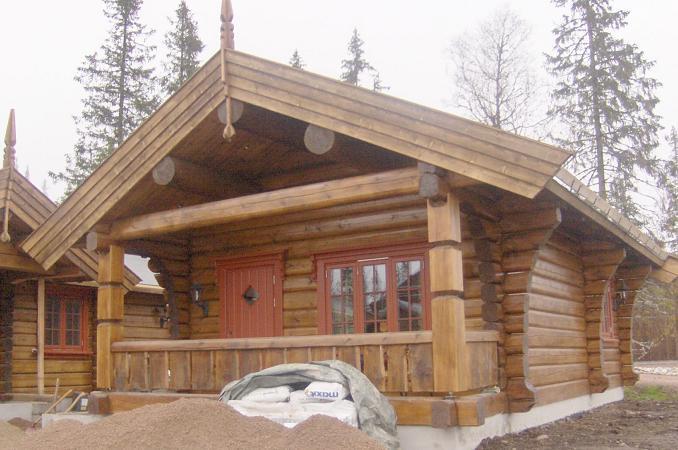 дом из лафета по норвежской технологии строительства