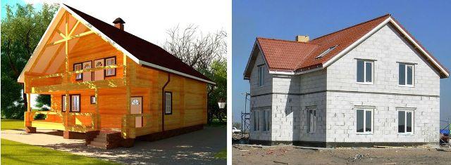 Дом из бруса или газобетона