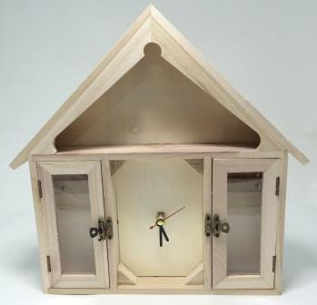 ключница часы-домик с часовым механизмом