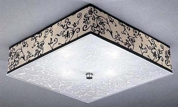 Квадратная потолочная люстра