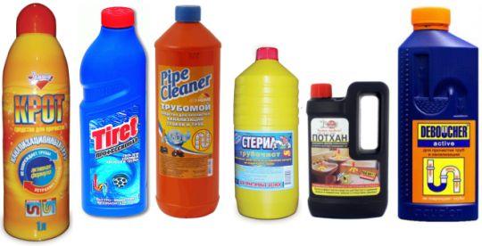 химия для прочистки канализации