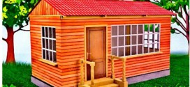 Летняя кухня  на даче закрытого типа с крышей и стенами