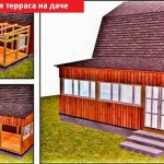 Деревянная терраса 3x6 м на даче
