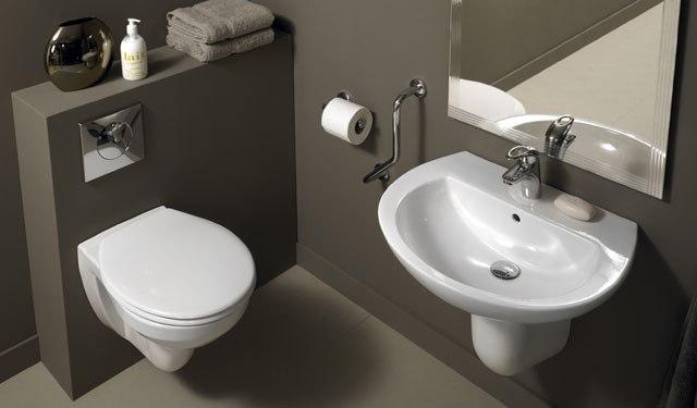 Унитаз-инсталляция в ванной