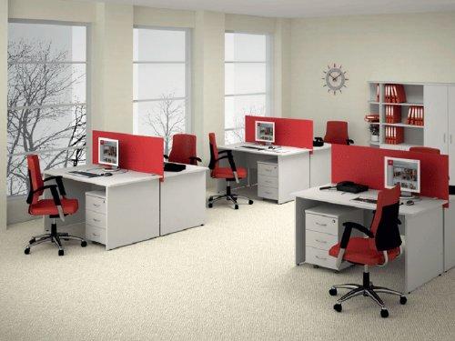 Красные оттенки в интерьере офиса