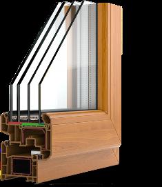 Трехкамерный стеклопакет толщиной 58 мм с энергосберегающими стеклами